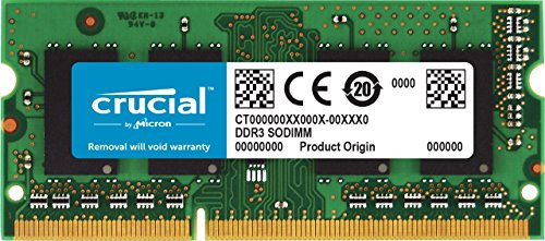 Crucial 4Go DDR3L 1600 MT/s (PC3L-12800) SODIMM 204-Pin - CT51264BF160B